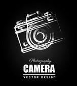 Camera design over black background vector illustration