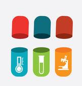 Medical  pills design over gray background vector illustration
