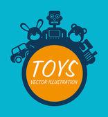 Baby toys design over blue background vector illustration