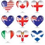 Постер, плакат: Сердца англо говорящих стран