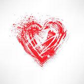 Gemalte Herzen Pinselform