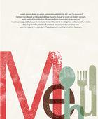 Menü. print Design-Hintergrund