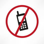 Vektor znamení žádný mobil