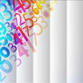 Absztrakt számok színes háttér