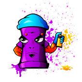 Cerca duro può come artista di graffiti