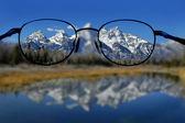 Brýle a jasnou vizi hor