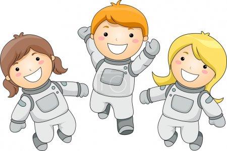 Постер, плакат: Kid Astronauts, холст на подрамнике