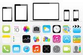 Apple ipad mini iphone ipod mac icon vector eps 10