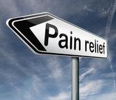 Sollievo dal dolore o gestione di antidolorifico o altro trattamento cronico infortunio cartello con testo