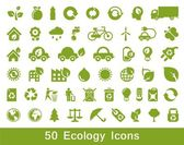 50 Ecology and recycle icons vector set