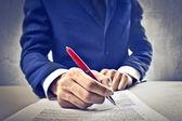 Podnikatel podepsání smlouvy