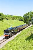 Parní vlak, železnice warwickshire gloucestershire, gloucestershi