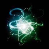 Toku energie proti tmavému pozadí. vektor