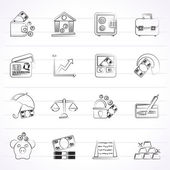 Business finance and bank icons - vector icon set