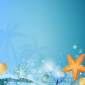 Vector Illustration of a Decorative Underwater Background