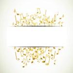 Постер, плакат: Colorful music notes