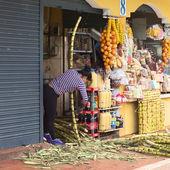 čištění cukrové třtiny v banos, Ekvádor