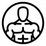 Постер, плакат: Strong man symbol in circle