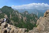 Mountain landscape, panorama of Seoraksan National Park, South K