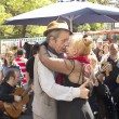 Постер, плакат: Tango dancers performs in San Telmo