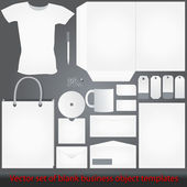 Detailed white corporate templates