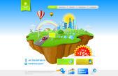 Flying Island: Web Promo Concept