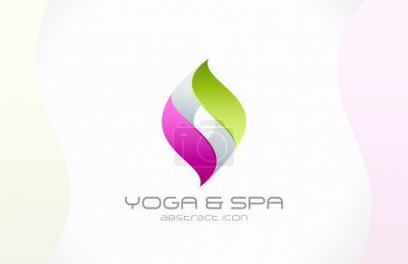 Abstract vector logo template for SPA, cosmetics, pharmacy, medi