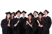 Boldog mosolygó csoport többnemzetiségű diplomások