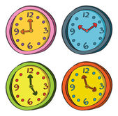 Clock in various color