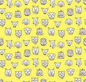 Dog face seamless background