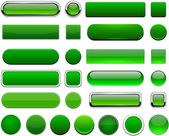 Set of blank green buttons for website or app Vector eps10