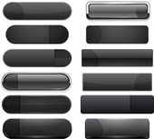 Set of blank black buttons for website or app Vector eps10