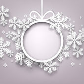 Vánoční pozadí s kulatým copyspace
