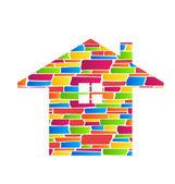 Color Stone House Estate Icon
