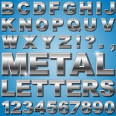 An Alphabet Sit of Shiny Metal Letters and Numbers