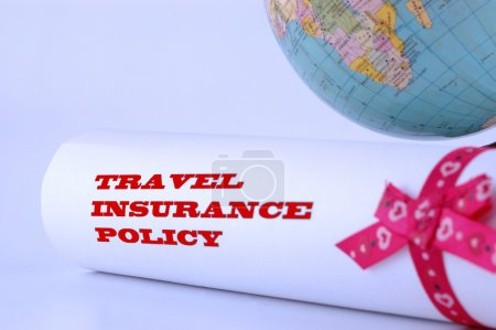 Постер, плакат: Travel insurance policy, холст на подрамнике