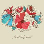 Frühling-Blumen-Hintergrund-Vektor-illustration