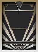Art-Deco-Hintergrund und Rahmen
