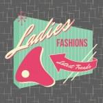 Постер, плакат: 1950s Storefront Style Logo Design