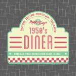 Постер, плакат: 1950s Diner Style Logo Design