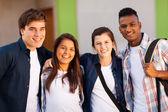 Csoport középiskolás diákok portré