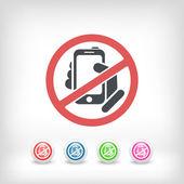 Zakázané telefonu ikonu