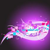 Vector abstract design art illustration