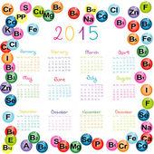 2015 kalendář s vitamíny a minerály pro lékárny a hosp