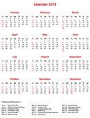 Calendario di ufficio vettoriale semplice 2013. file Eps10