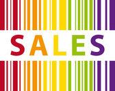 Colorful sales bar code illustration