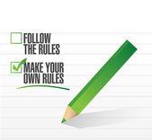 Make vlastní pravidla kontroly schválení ilustrace