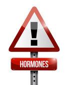 Hormones warning sign illustration design