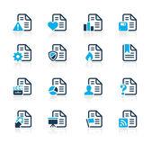 Dokumentumok ikonok - 2 / / kék sorozat