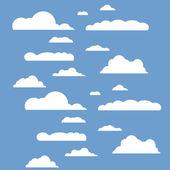 Vektor-Illustration der Wolken